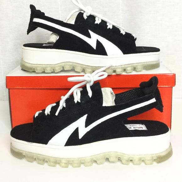 Vintage 90s platform leather sneaker sandal SZ 10